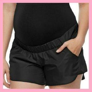 Black Maternity Active Shorts